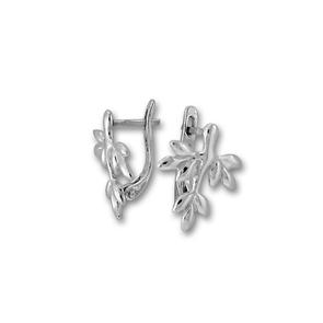 Сребърни обеци без камъни - 133526
