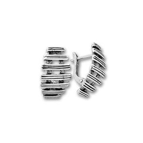 Сребърни обеци без камъни - 132959