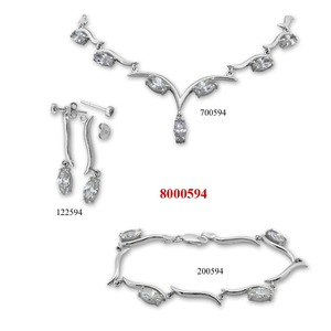 Сребърни бижута - комплект 8000594