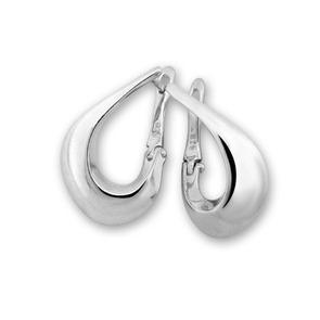 Сребърни обеци без камъни 132622