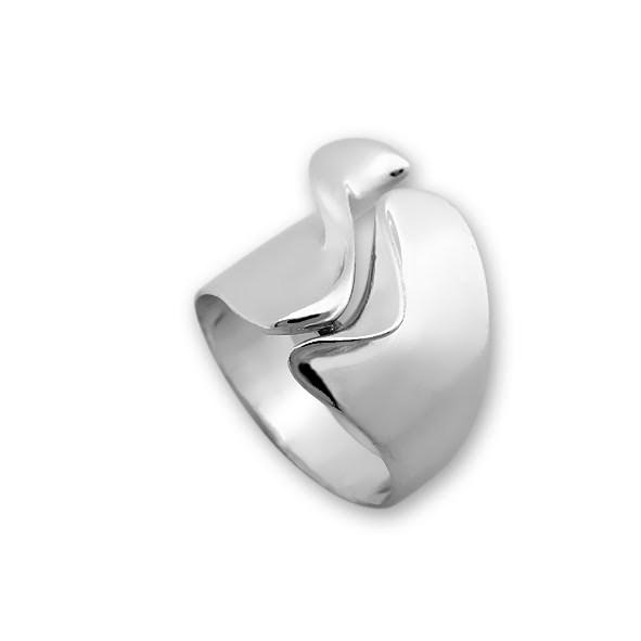 Сребърен пръстен без камък 1515282