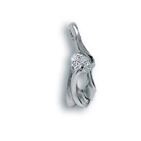Висулки от сребро с камък - 184135