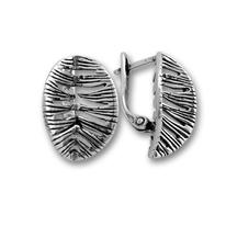 Сребърни обеци без камъни - 133898