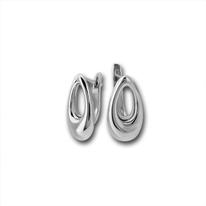 Сребърни обеци без камъни - 133880
