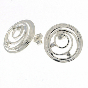 Oбици с камъни от сребро - 138099