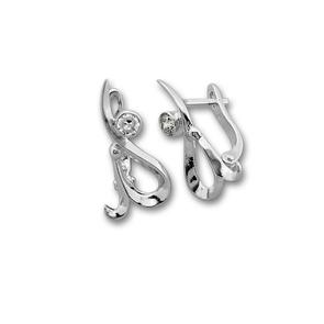 Oбици с камъни от сребро - 114488