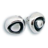 Сребърни обеци без камъни - 131975