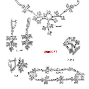 Сребърни бижута - комплект 8000957