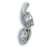 Висулки от сребро с камък - 173632