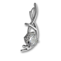 Висулки от сребро с камък - 184470