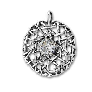 Висулки от сребро с камък - 193928