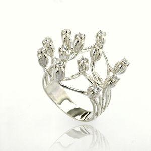 Пръстени с камък от сребро - 1585309