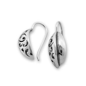 Сребърни обеци без камъни - 132054