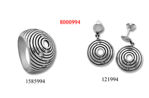 Сребърни бижута - комплект 8000994