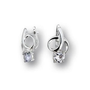 Oбеци с камъни от сребро - 121251