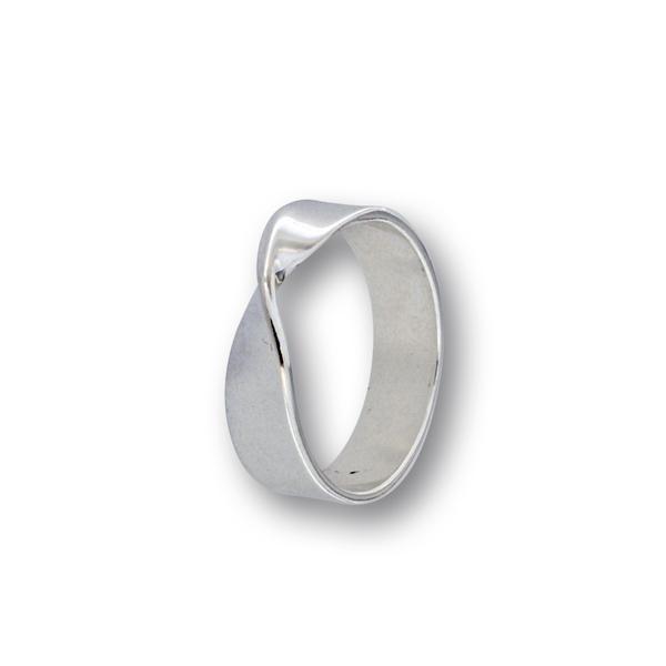 Сребърен пръстен без камък 1536205