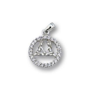 Висулки от сребро с камък - 174696