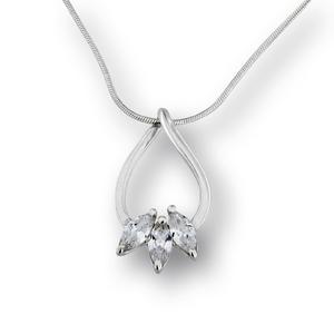 Висулки от сребро с камък - 184196