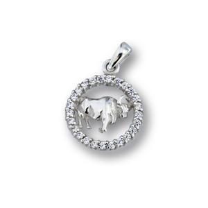 Висулки от сребро с камък - 174695
