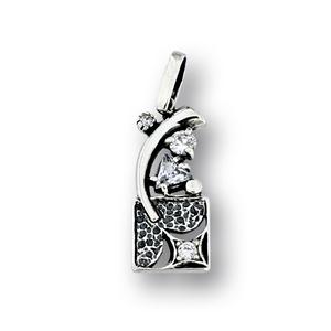 Висулки от сребро с камък - 182197