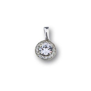 Висулки от сребро с камък - 186198