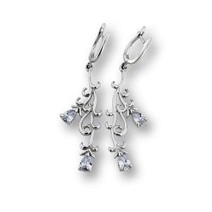 Oбеци с камъни от сребро - 122238