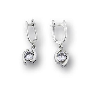 Oбеци с камъни от сребро - 121200