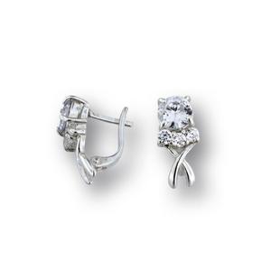 Oбеци с камъни от сребро - 138203