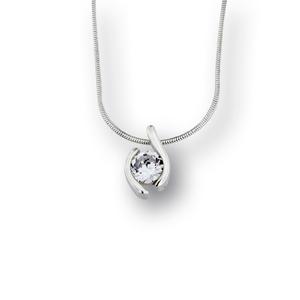Висулки от сребро с камък - 186200