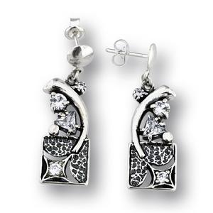 Oбеци с камъни от сребро - 130197