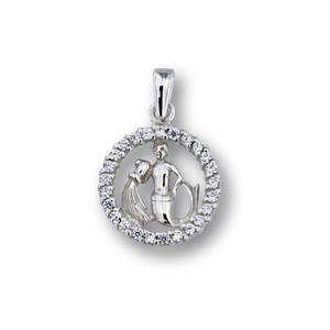 Висулки от сребро с камък - 174704