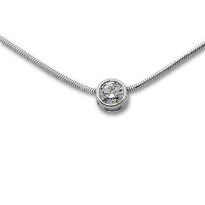 Висулки от сребро с камък - 120234