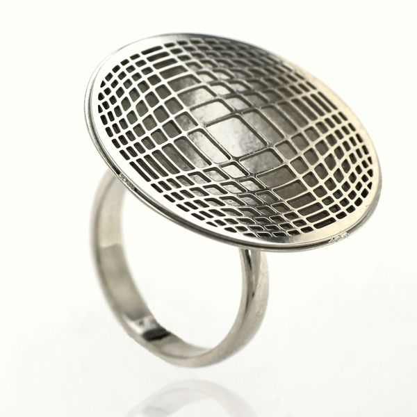 Сребърен пръстен без камък 1486134