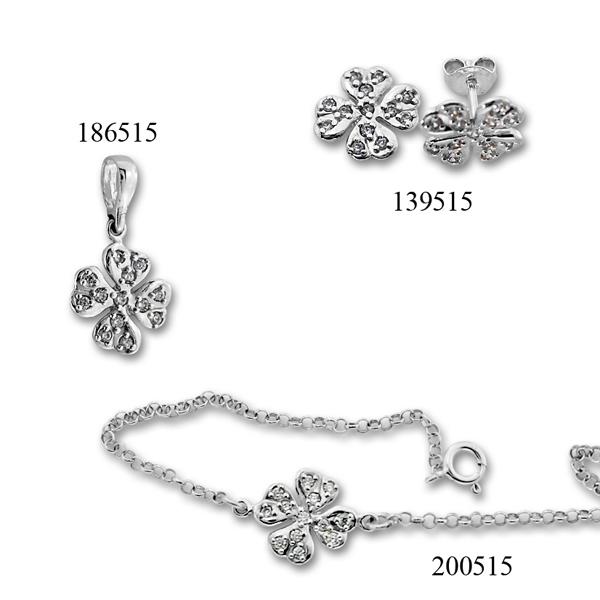 Сребърни бижута - комплект 8000515