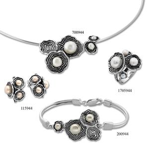 Сребърни бижута - комплект 8000944
