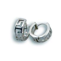 Сребърни обеци без камъни - 126180