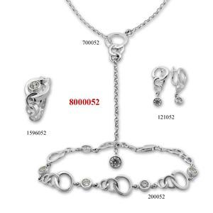 Сребърни бижута - комплект 8000052