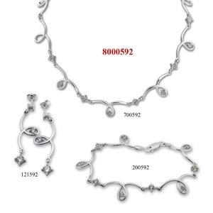 Сребърни бижута - комплект 8000592
