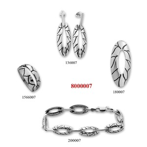 Сребърни бижута - комплект 8000007