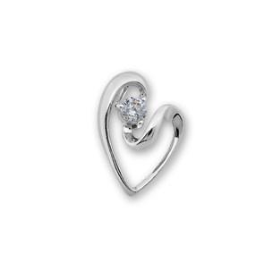Висулки от сребро с камък - 184046