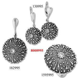 Сребърни бижута - комплект 8000995