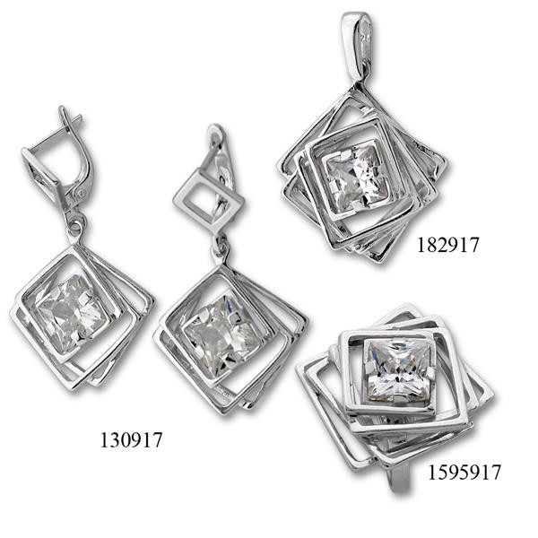 Сребърни бижута - комплект 8000917