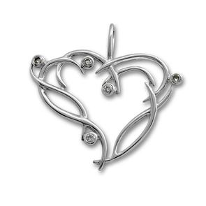 Висулки от сребро с камък - 174892