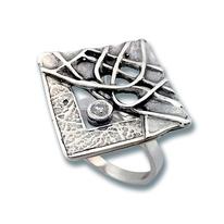 Пръстени с камък от сребро - 1595831