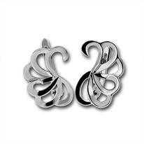 Сребърни обеци без камъни - 133234
