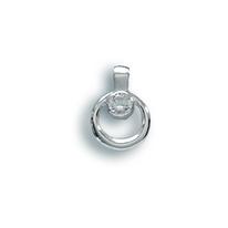 Висулки от сребро с камък - 184076