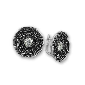 Oбици с камъни от сребро - 130025