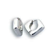 Сребърни обеци без камъни - 126122