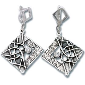 Oбици с камъни от сребро - 130831