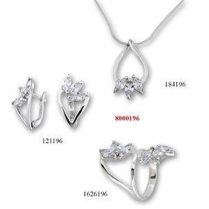 Сребърни бижута - комплект 8000196